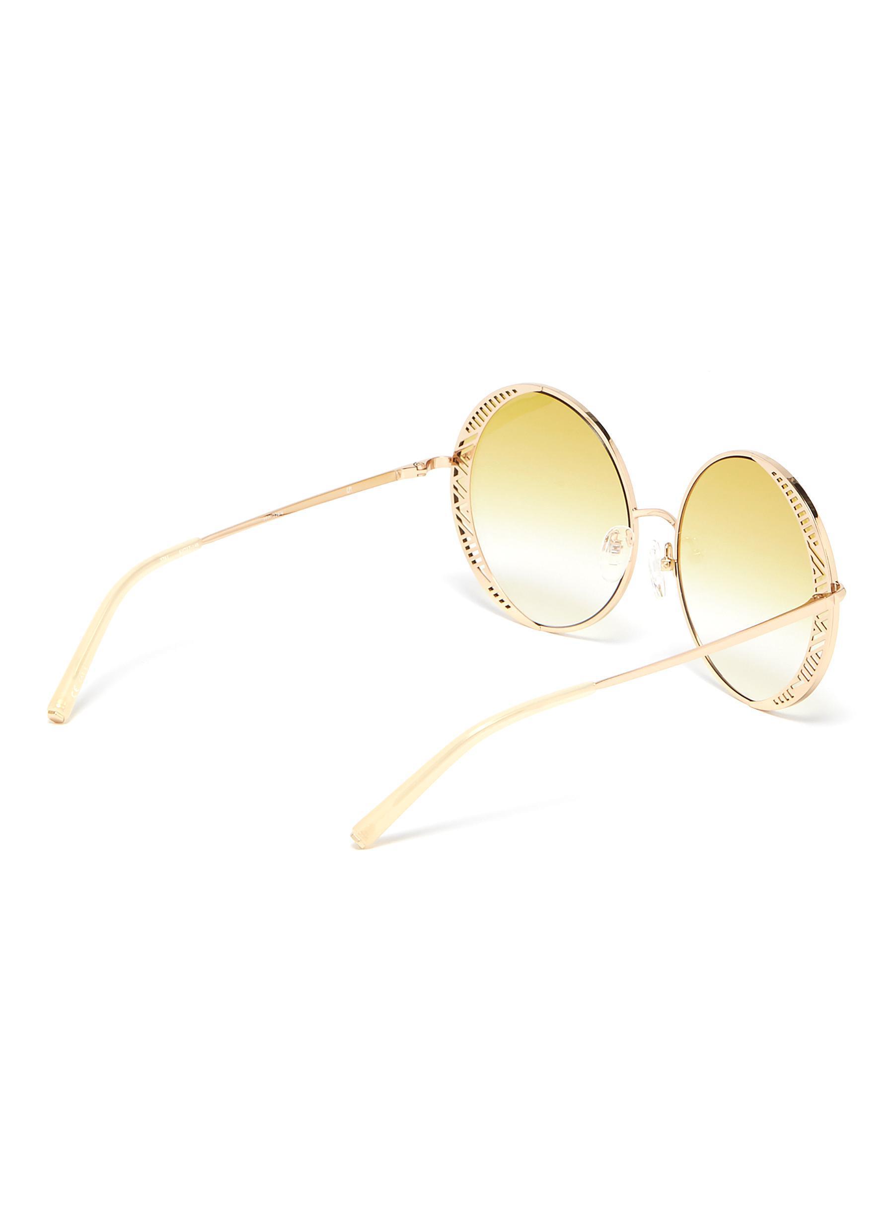 3ff05049306 Rim Men Sunglasses View Oversized Metal Fullscreen Lyst Matthew Williamson  Round For Cutout Yellow ZTzTxtqa