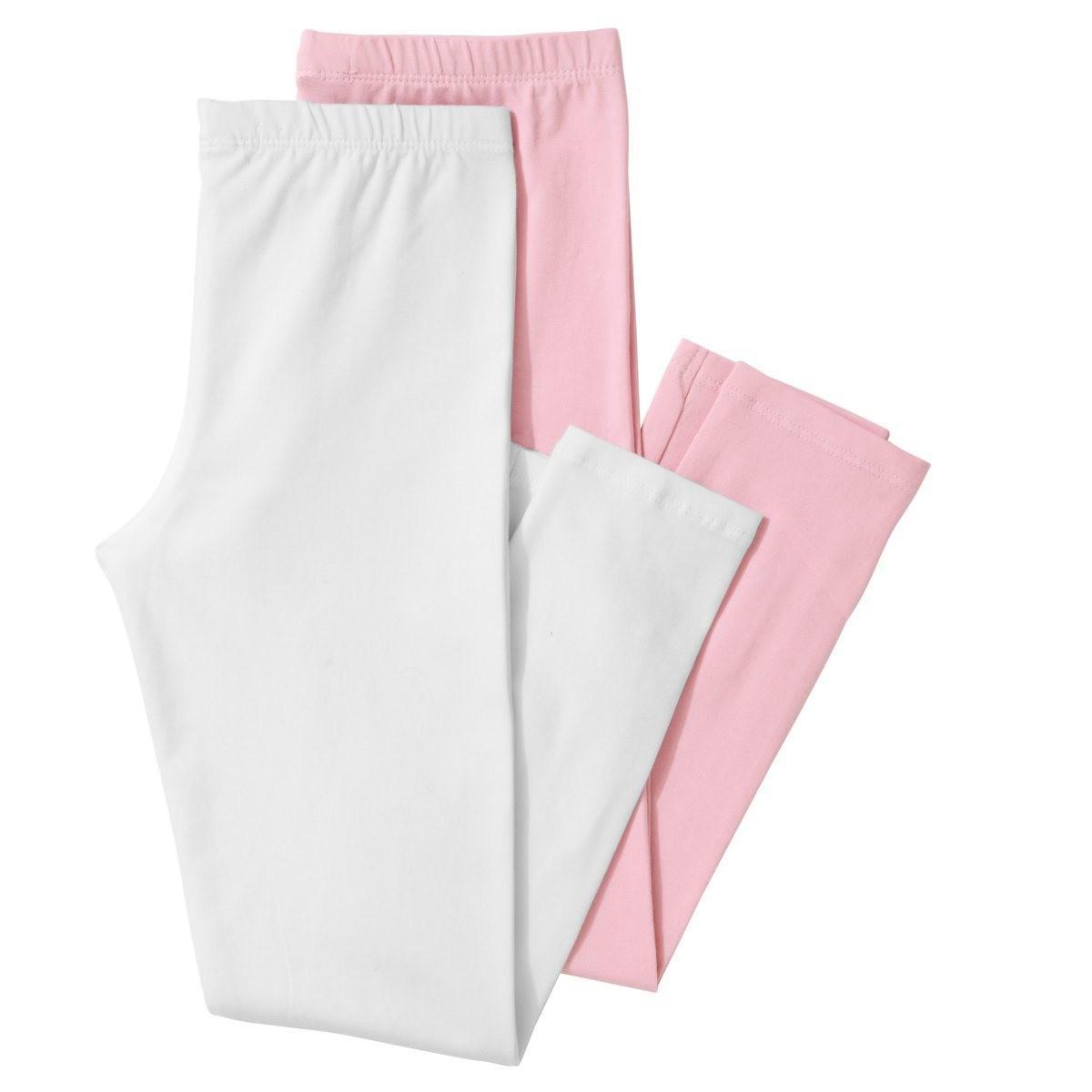 la redoute effen korte legging set van 2 in pink lyst. Black Bedroom Furniture Sets. Home Design Ideas