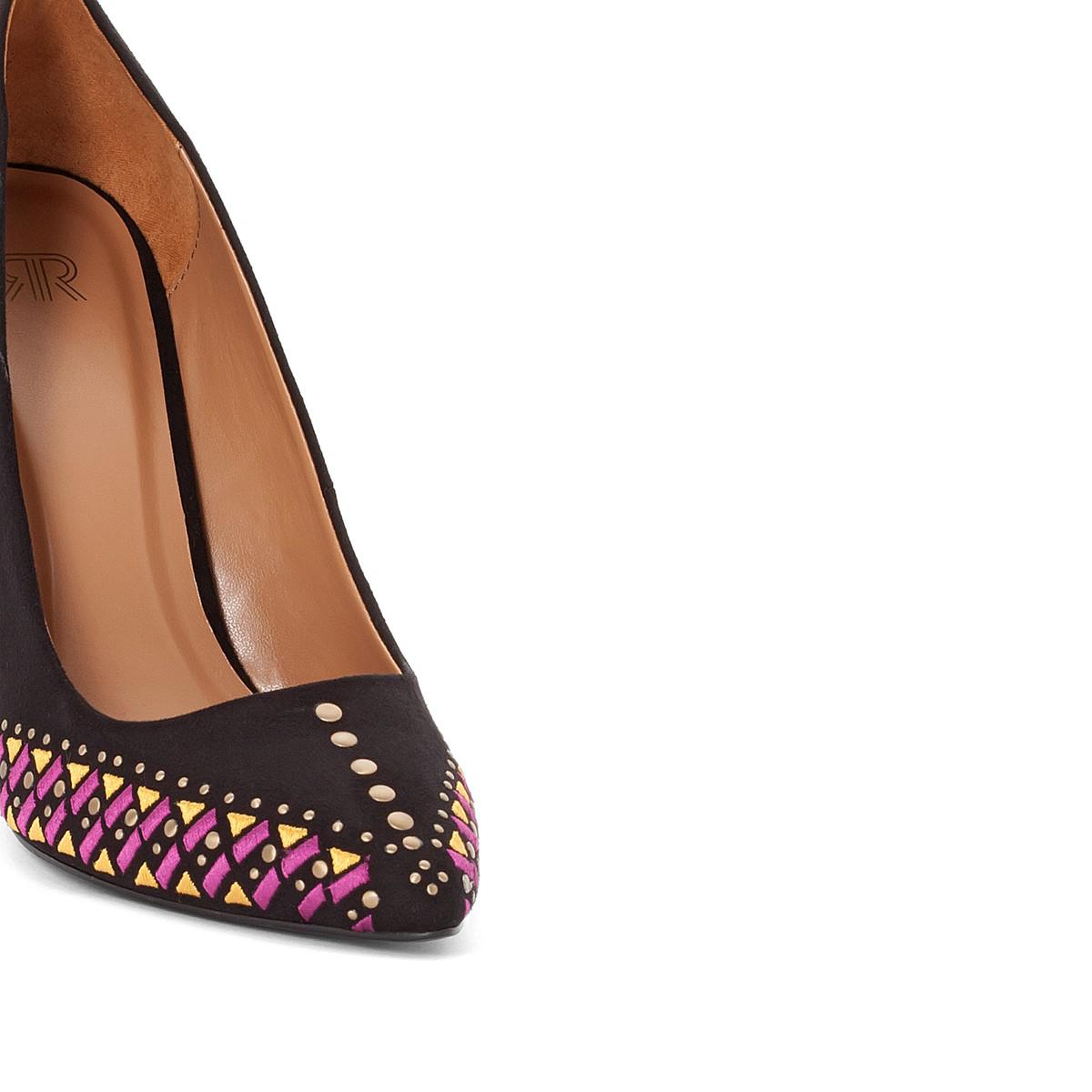 Authentic Online La Redoute Collections Heels With Embroidered