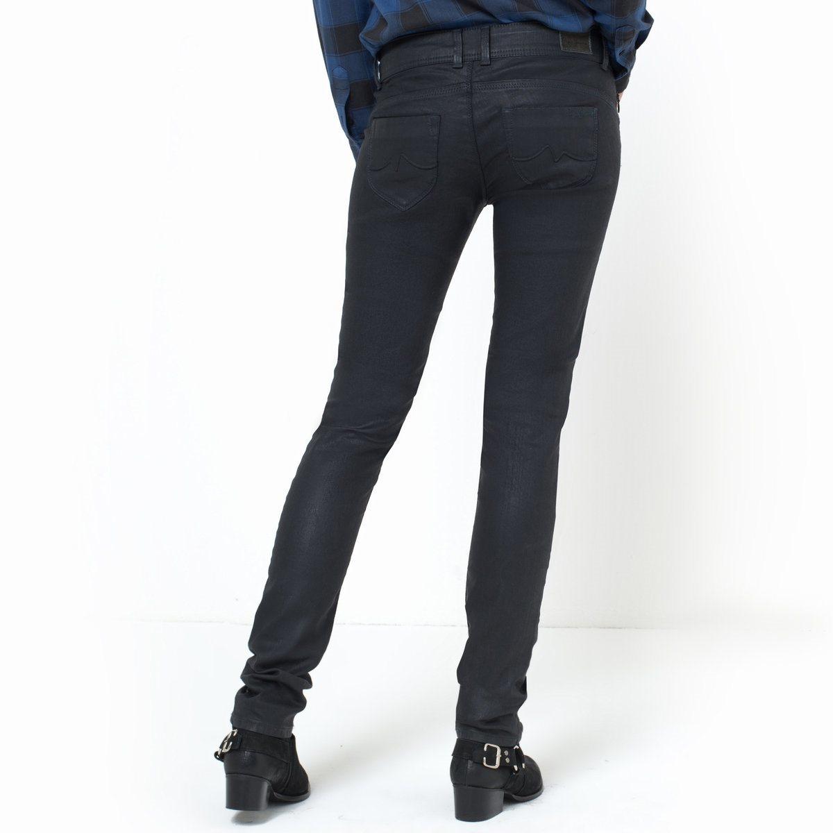 pepe jeans new brooke coated slim fit jeans in black lyst. Black Bedroom Furniture Sets. Home Design Ideas