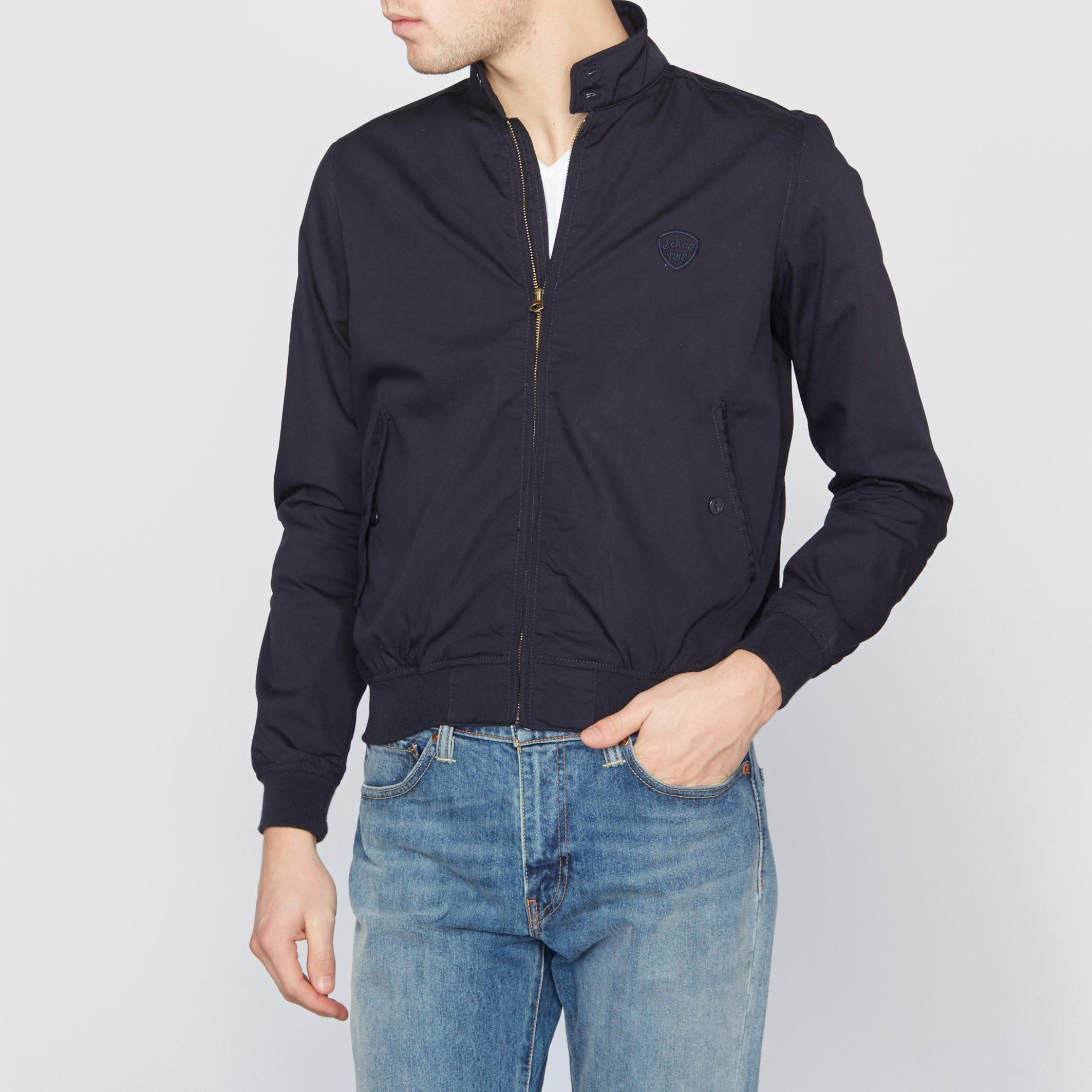 lyst schott nyc stardust bomber jacket in black for men. Black Bedroom Furniture Sets. Home Design Ideas