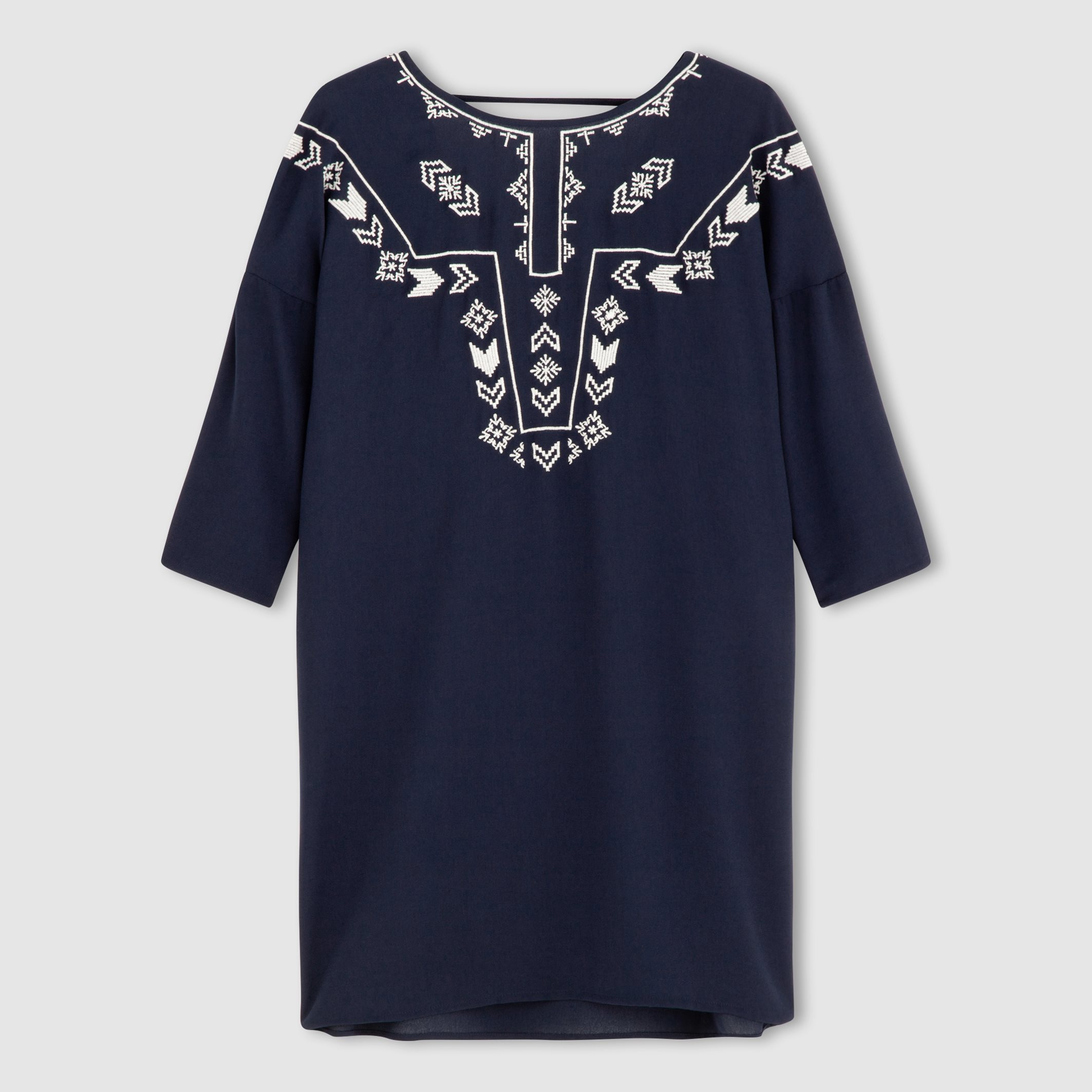 Vero Moda Embroidered Dress In Blue  Lyst