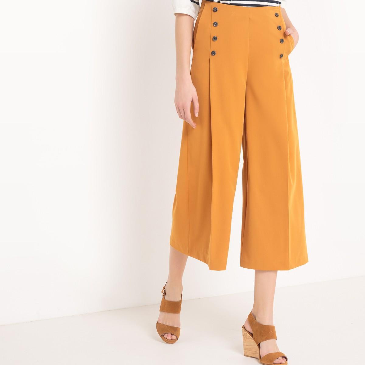 lyst la redoute jupe culotte in orange. Black Bedroom Furniture Sets. Home Design Ideas