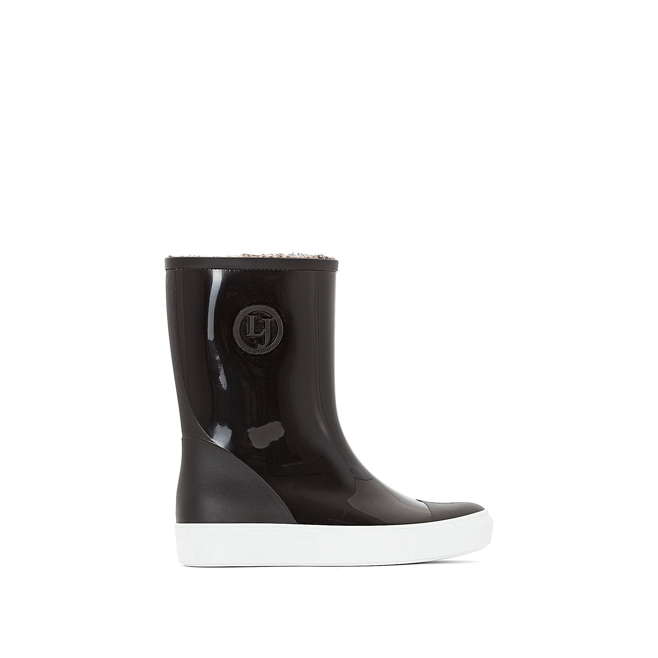 lemon jelly retro wellington boots in black lyst
