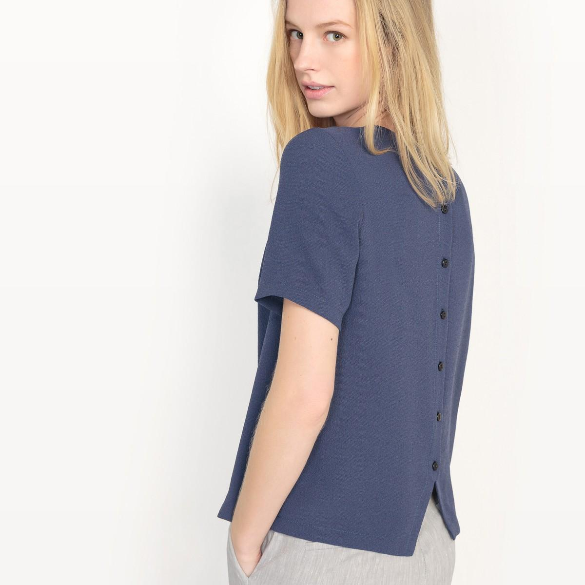 la redoute blouse made in france in blue lyst. Black Bedroom Furniture Sets. Home Design Ideas