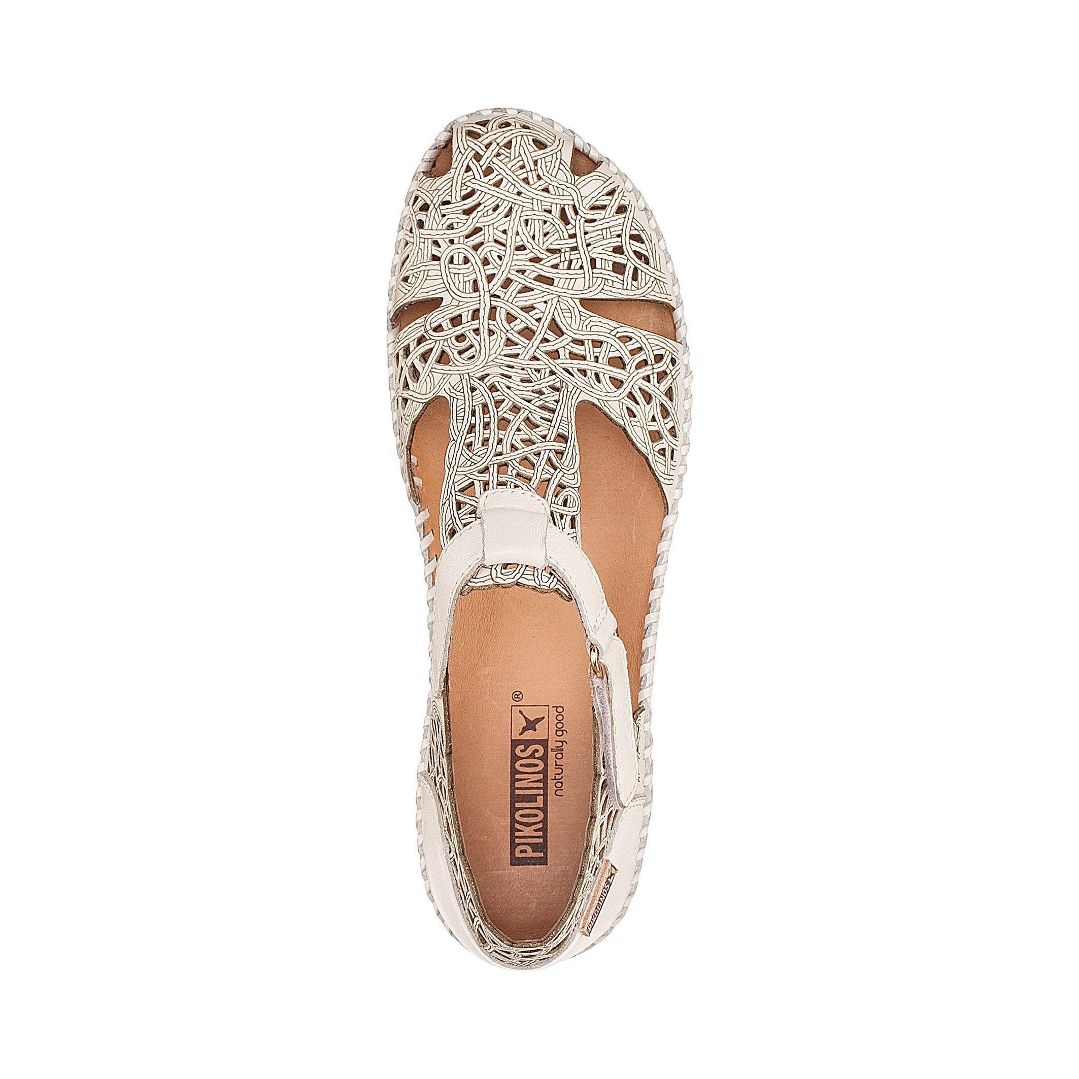 Pikolinos P Vallarta Leather Sandals In White Lyst