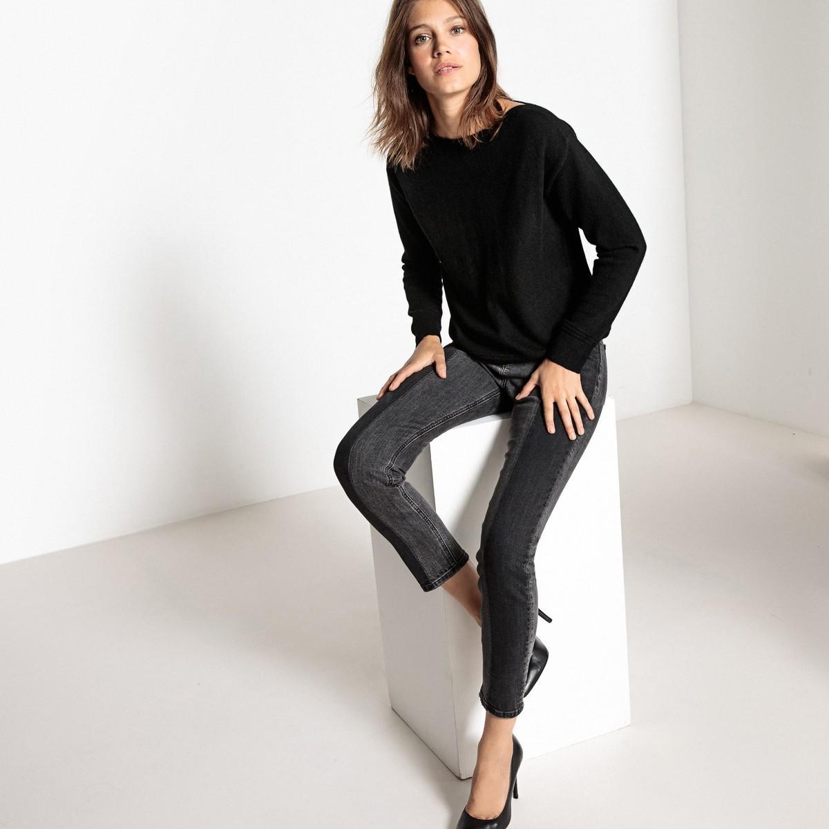 lyst la redoute pull col b teau 100 cachemire in black. Black Bedroom Furniture Sets. Home Design Ideas
