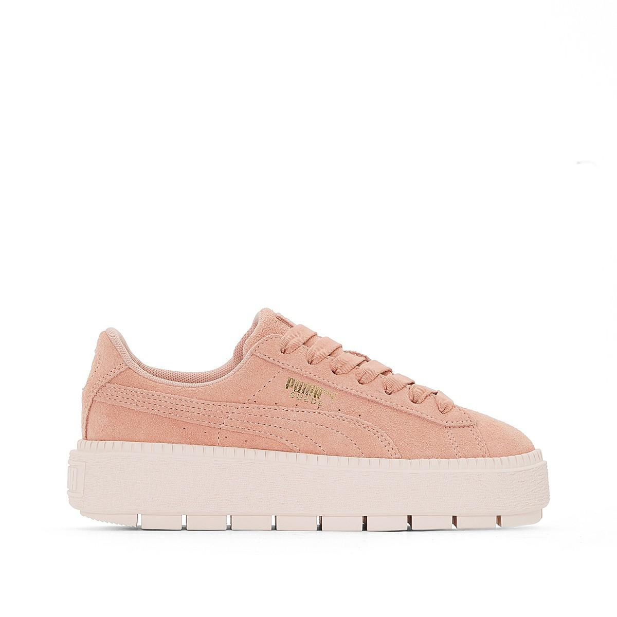 66043faceaec Lyst - Puma W Suede Platform Trace Trainers in Pink
