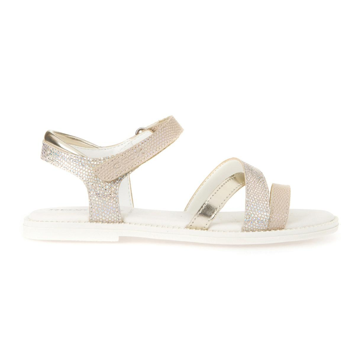 27fccab86faa9 Lyst - Geox Js Karly Gd Sandals in Natural