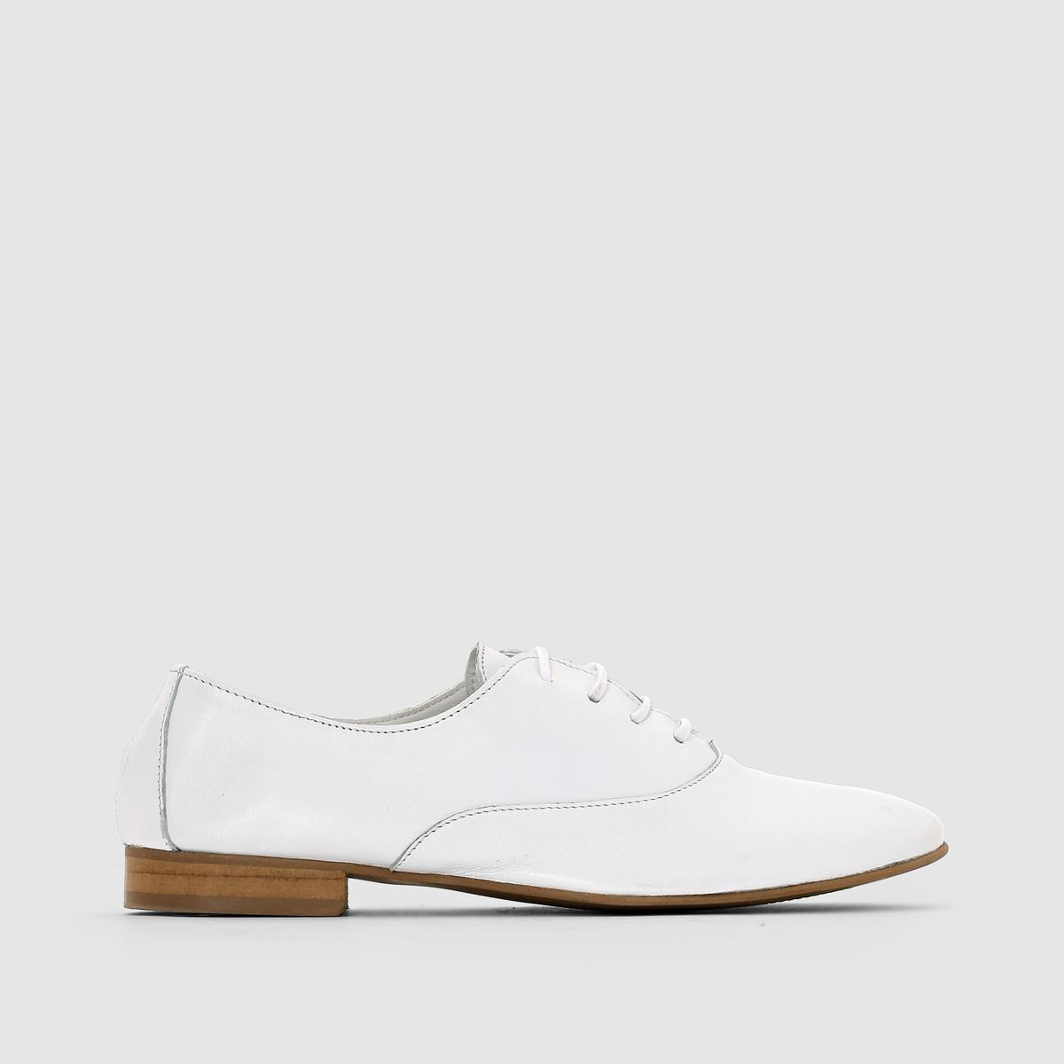 latest cheap online discount codes clearance store La Redoute Collections Soft White Leather Brogues eBkenln7xt