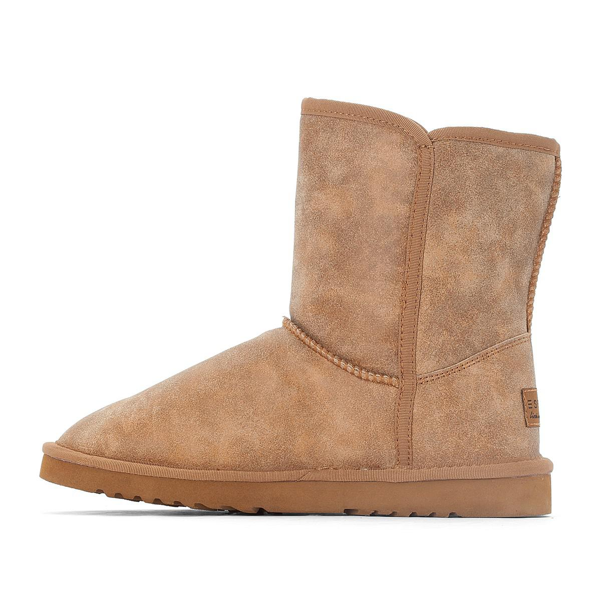 esprit boots fourr es uma in brown lyst. Black Bedroom Furniture Sets. Home Design Ideas