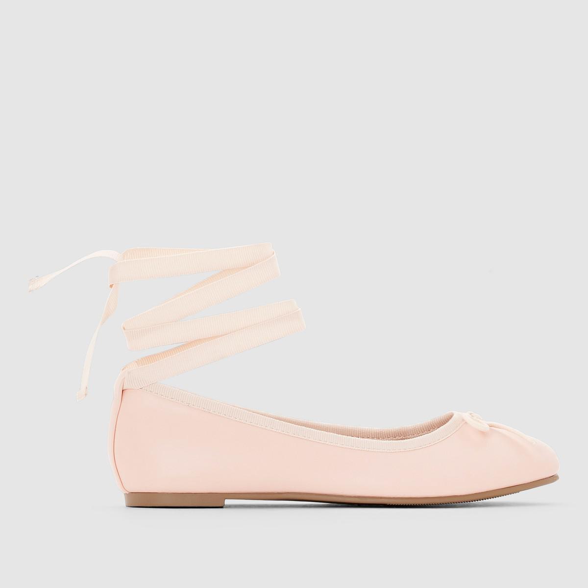 eaab690730fa Lyst - La Redoute Ballerina-style Ballet Pumps in Pink
