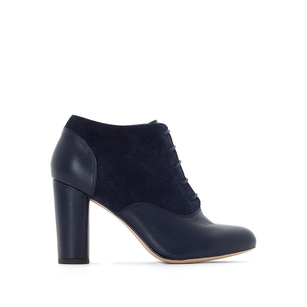 La Redoute Collections High-Heel Leather Boots with Ankle Strap outlet exclusive pKa5y4i6