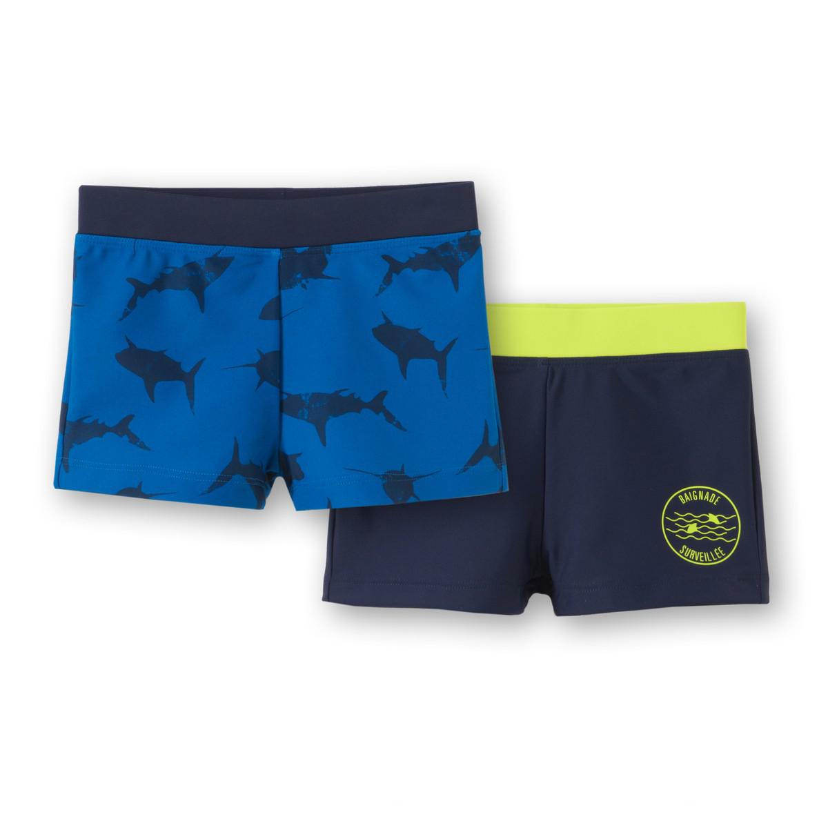 la redoute pack of 2 swim shorts 3 12 years in blue for lyst