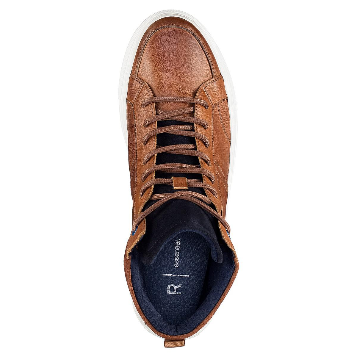d2b059232a521 Lyst - La Redoute Chah 17 Leather Lace-up High Top Trainers in Brown ...