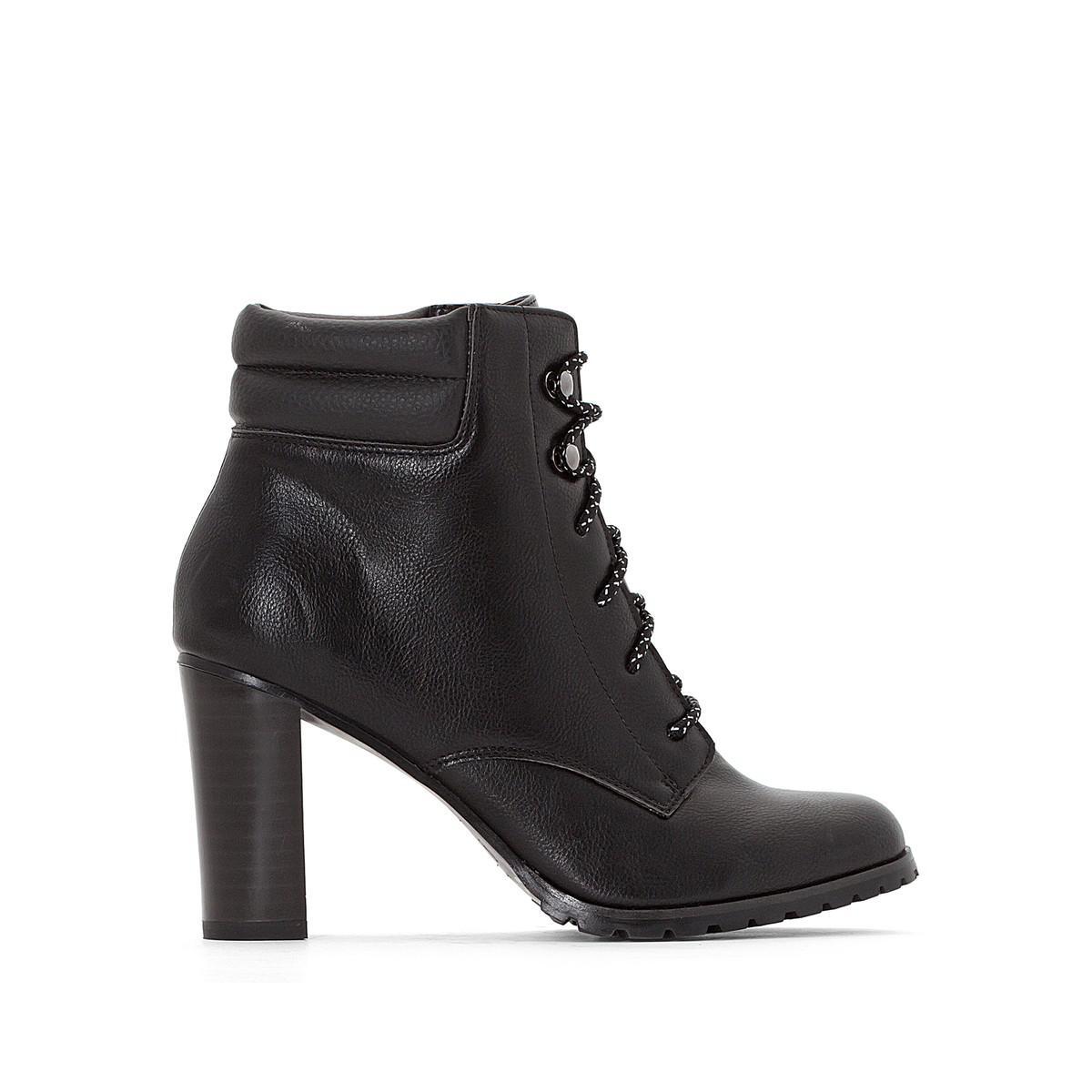 lyst la redoute boots esprit montagne talon haut in black. Black Bedroom Furniture Sets. Home Design Ideas
