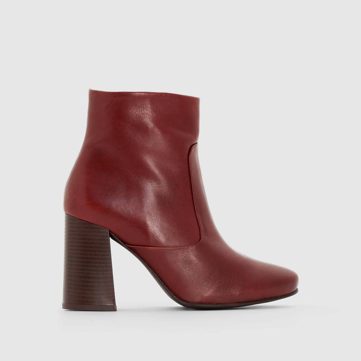 cheap sale perfect La Redoute Collections Kitten Heel Leather Boots online Shop buy cheap pick a best low shipping cheap online ahpXxI9k