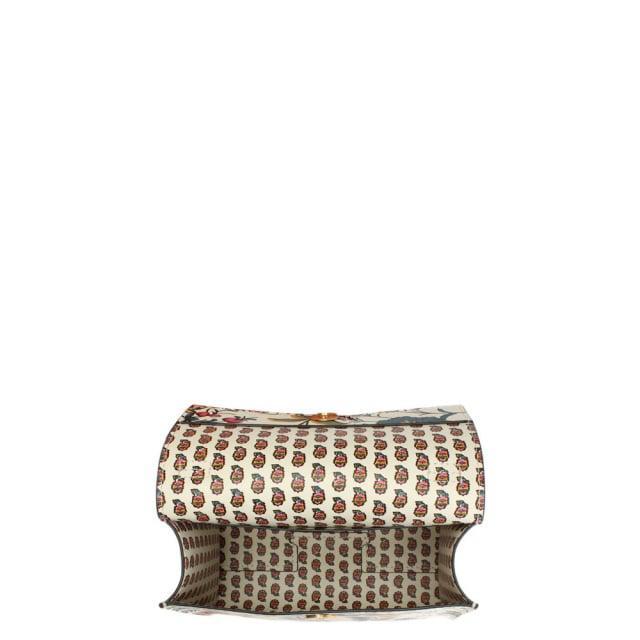 e18bd3a9e32 Lyst - Tory Burch Small Parker Gabriella Floral Leather Satchel Bag