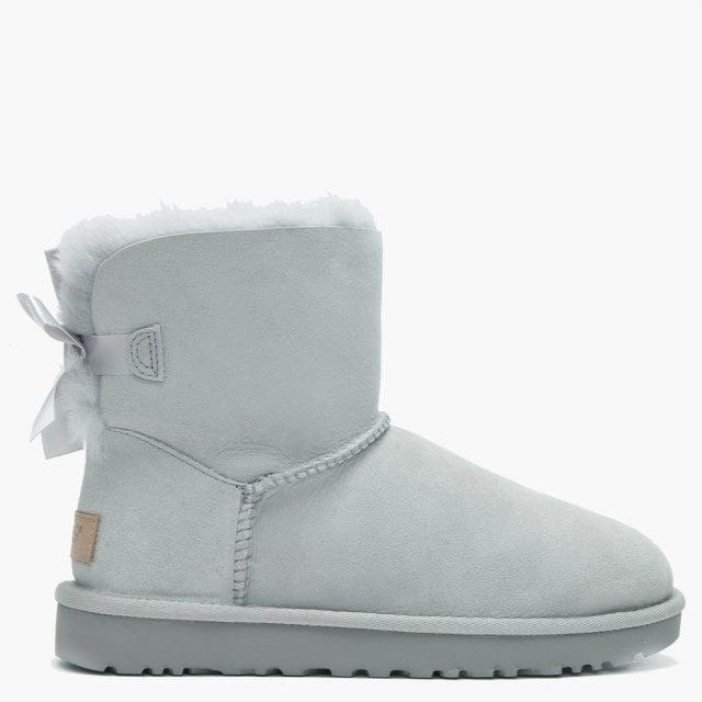 f11d39ffd3d Ugg Gray Mini Bailey Bow Ii Grey Violet Twinface Boots