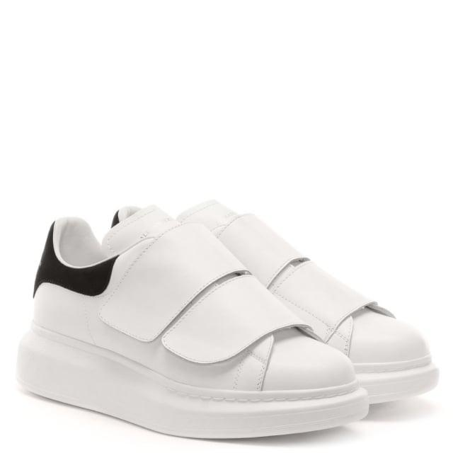 Alexander McQueen Black Flash Leather Velcro Sporty Trainers