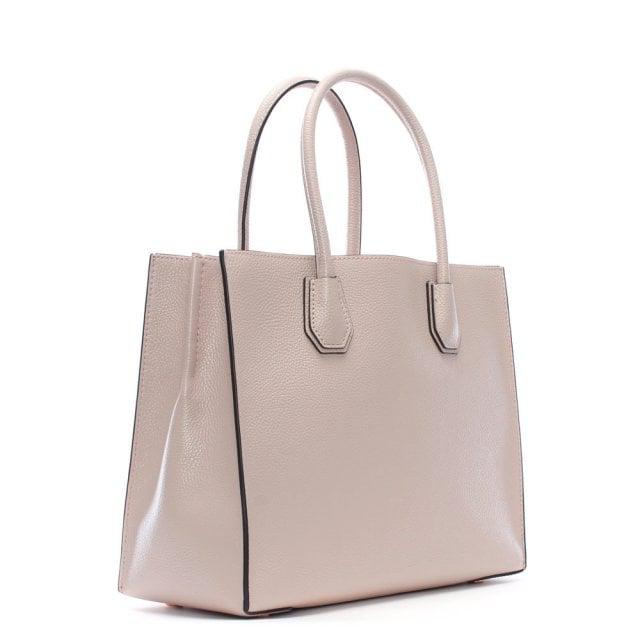 ea924a586a13b5 Michael Kors Mercer Fawn Leather Large Satchel Tote Bag in Pink - Lyst