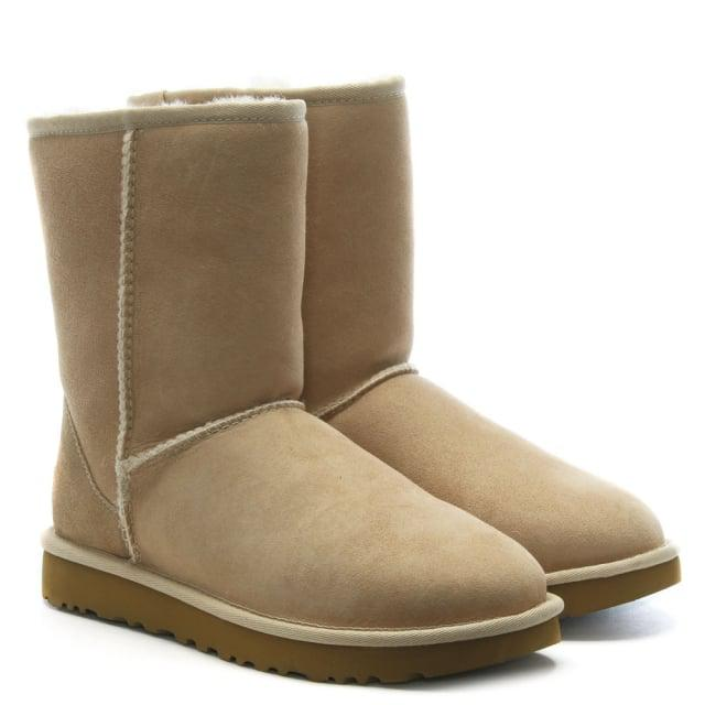 UGG Suede Classic Short Ii Sand Twinface Boots in Beige Suede (Natural)