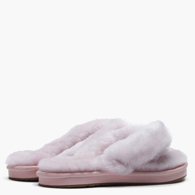 d91355803 UGG Women s Fluff Ii Seashell Pink Flip Flop Slippers in Pink - Lyst