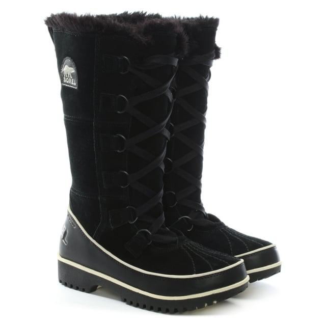 Sorel Tivoli High Black Leather Knee Snow Boot