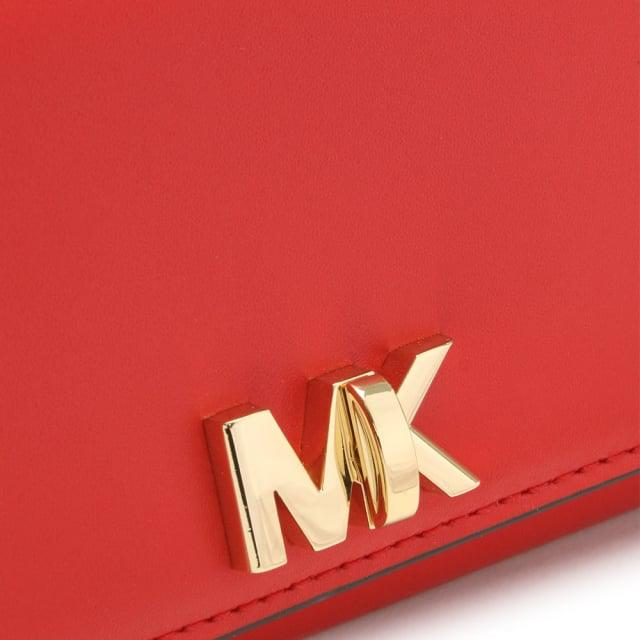 3536c1fd9a5b87 Michael Kors Large Mott Bright Red Leather Carryall Wallet in Red - Lyst