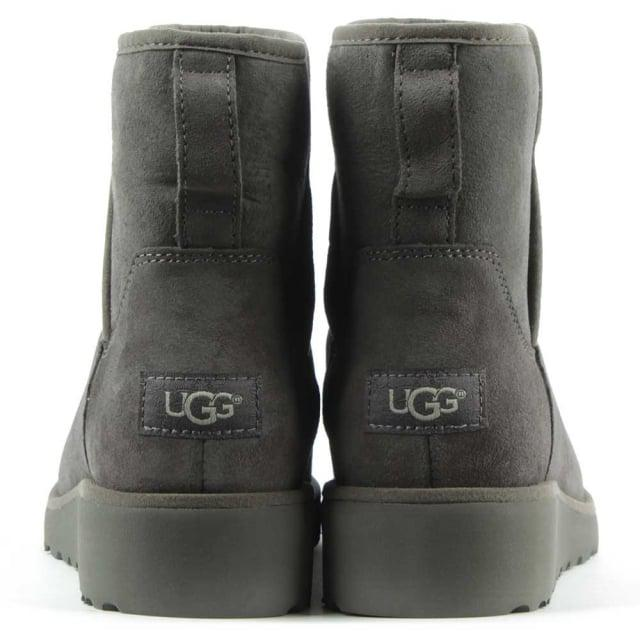 44a91ae6303 Ugg Gray Ugg Australia Kristin Grey Suede Twinface Boot