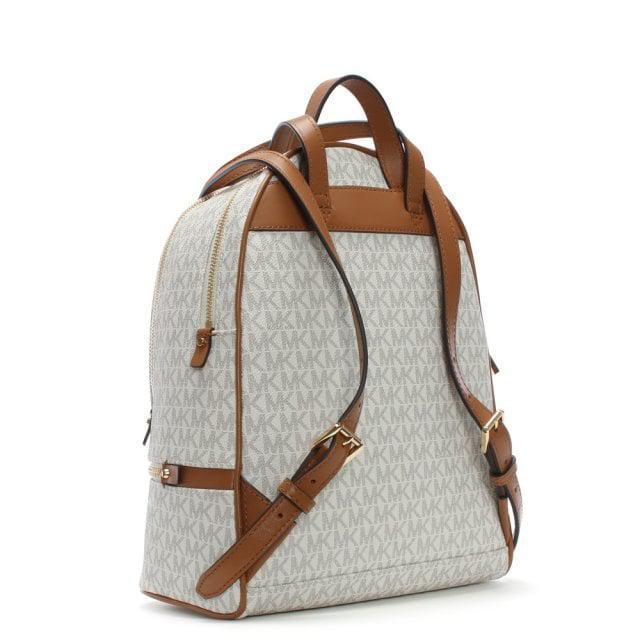ba1211c710ca ... release date michael kors multicolor rhea vanilla logo zip fastening backpack  lyst. view fullscreen 833ed