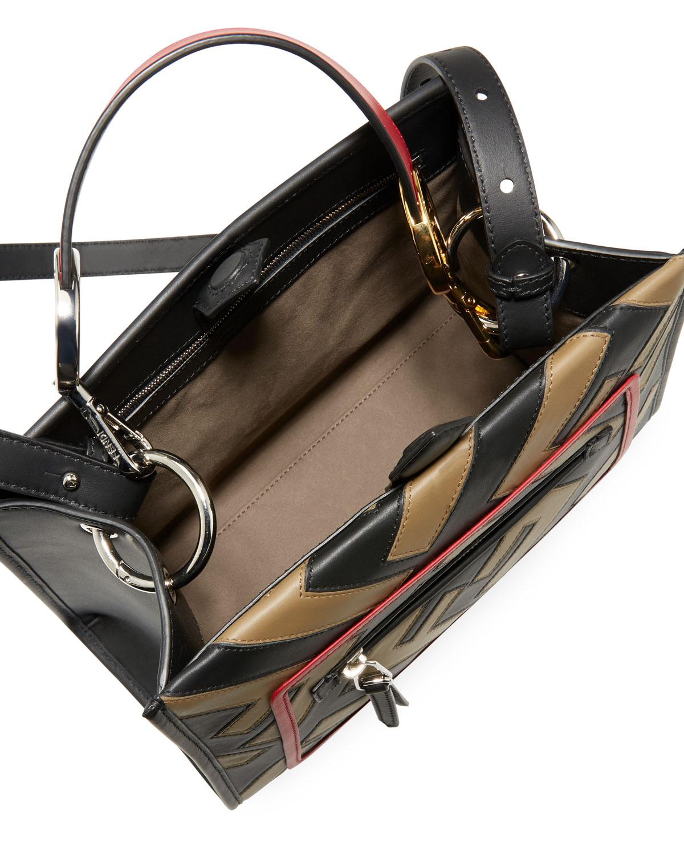 a5b90cf37846 Lyst - Fendi Runaway Small Century Calf Ff Tote Bag in Black - Save 15%