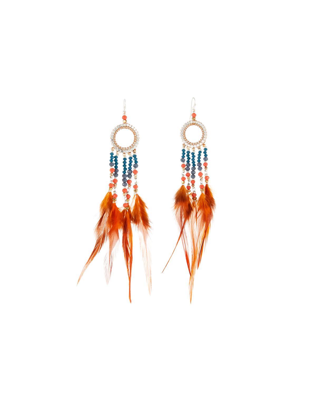 Nakamol Long Beaded-Feather Drop Earrings d1kG0DeY6