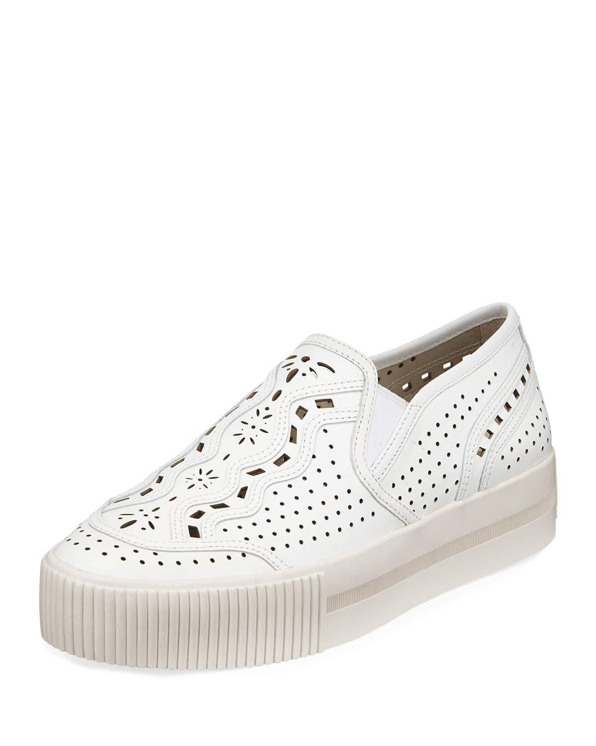 Ash Kingston Leather Sneakers in White