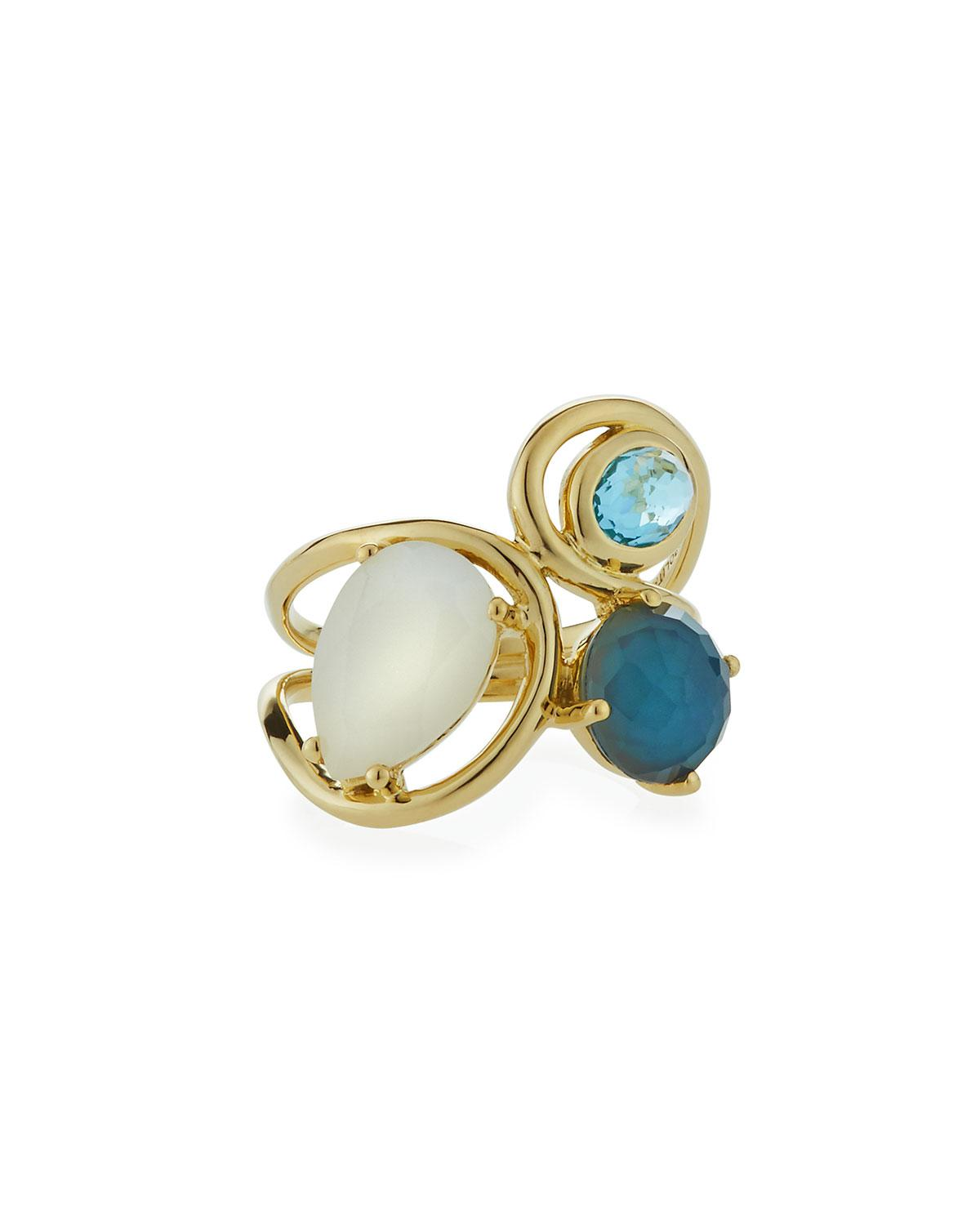 Ippolita 18K Rock Candy Squiggle Ring in Waterfall, Size 7