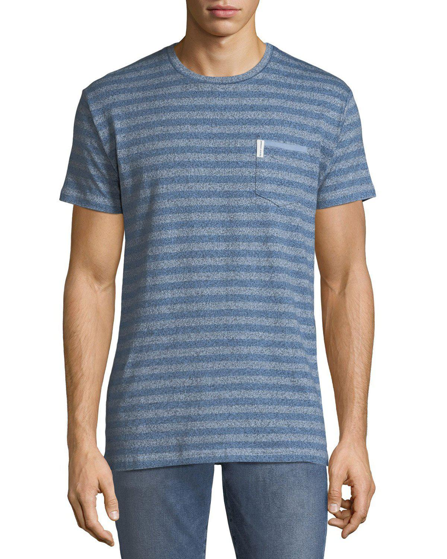 8c36177c9d Lyst - Ben Sherman Men s Striped Twisted-yarn T-shirt in Blue for Men