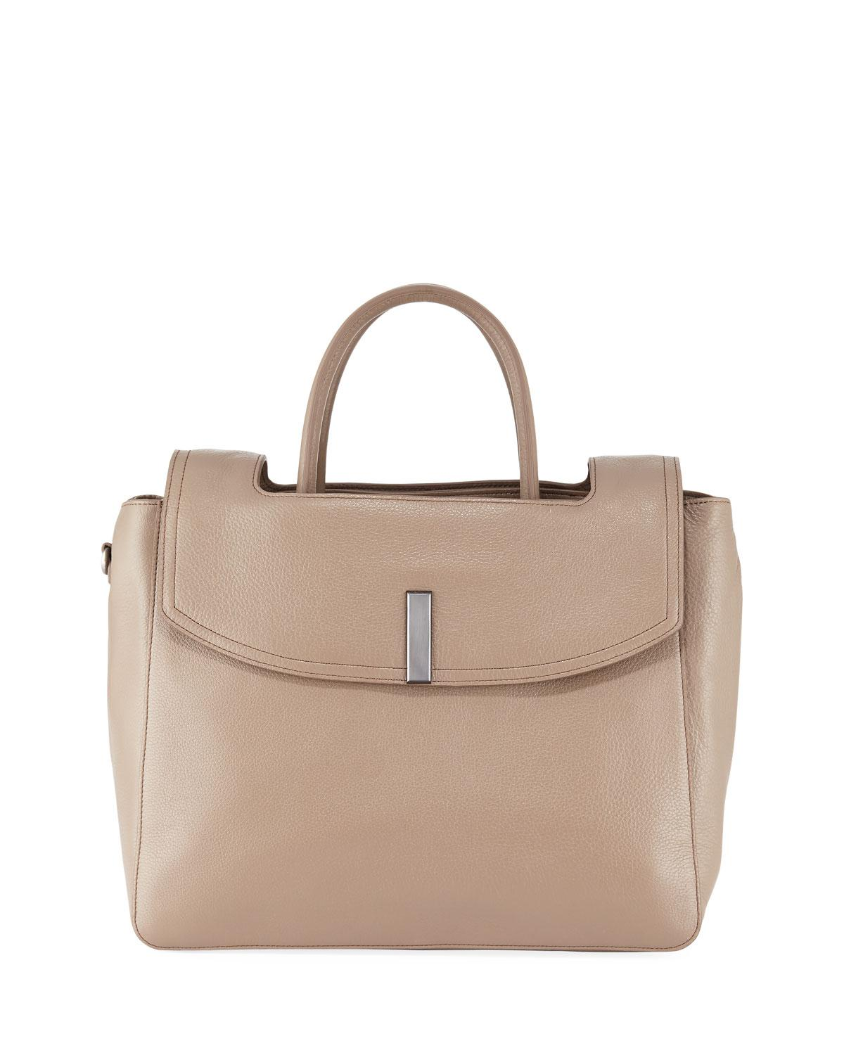 Lyst - Halston Large Tote Bag With Flap in Brown 7b424729ce14c