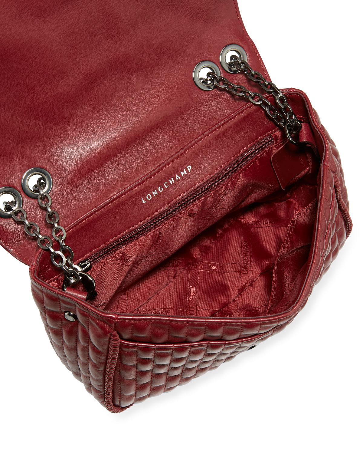 55705a8580e6 Lyst - Longchamp Amazon Small Leather Crossbody Bag in Red - Save 13%