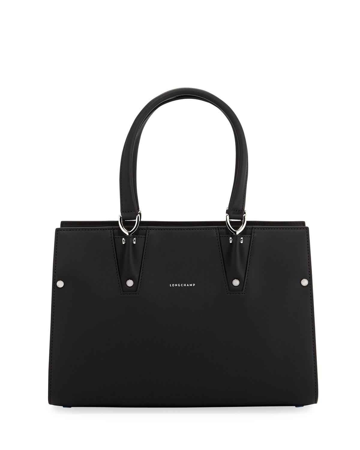 b6f7a431ce Lyst - Longchamp Paris Premier Small Tote Bag in Black