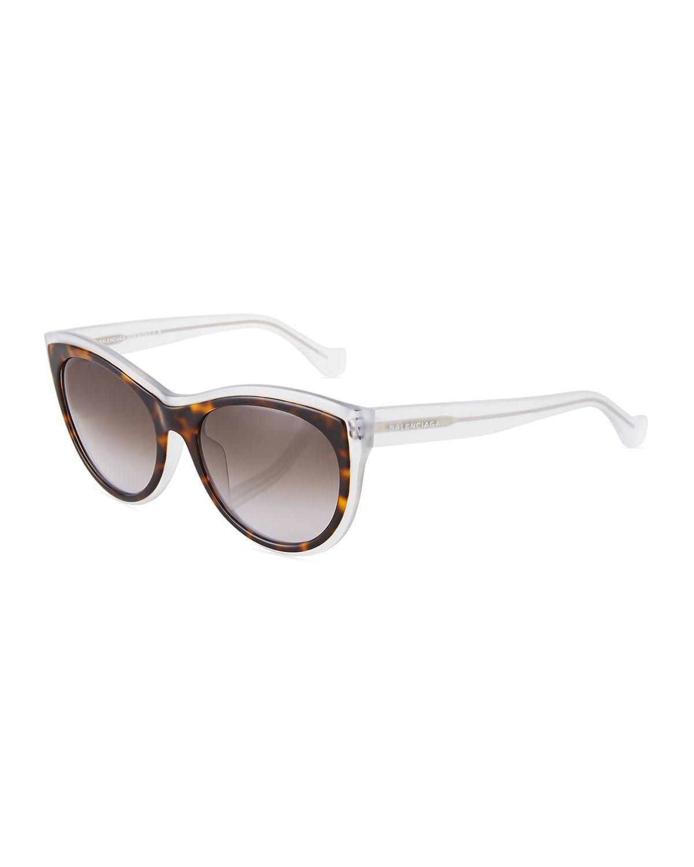 ee055c21fc7 Lyst - Balenciaga Translucent Cat-eye Sunglasses in Brown
