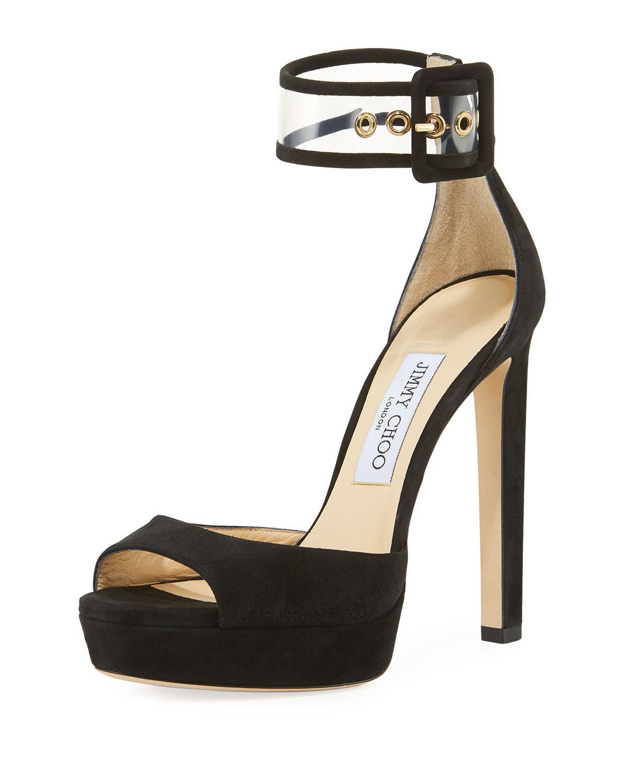 edad2f4da839 Jimmy Choo - Black Mayner Suede High Dressy Platform Sandal - Lyst. View  fullscreen