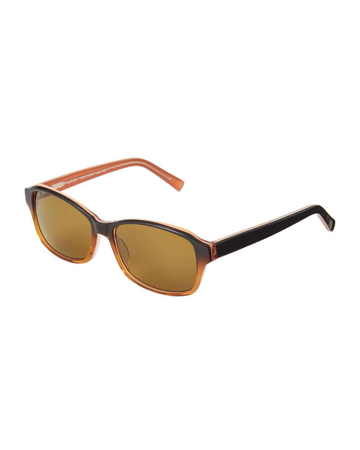 b65614f0316ff Lyst - Eyebobs Iona Trailer Square Polarized Acetate Sunglasses in Brown