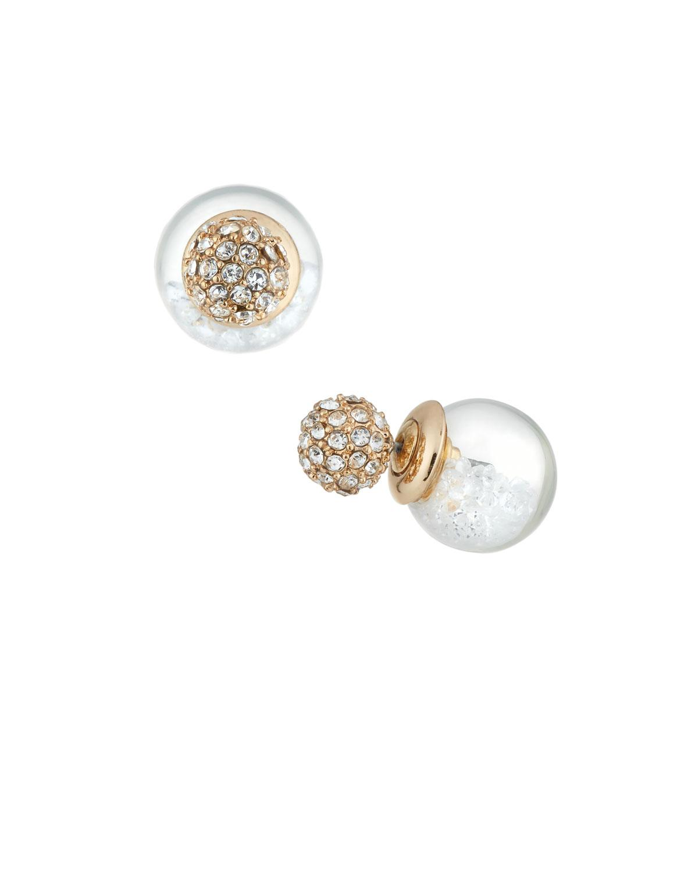 Lydell Nyc Dark Fuchsia Globe Shaker Stud Earrings 9n1ty