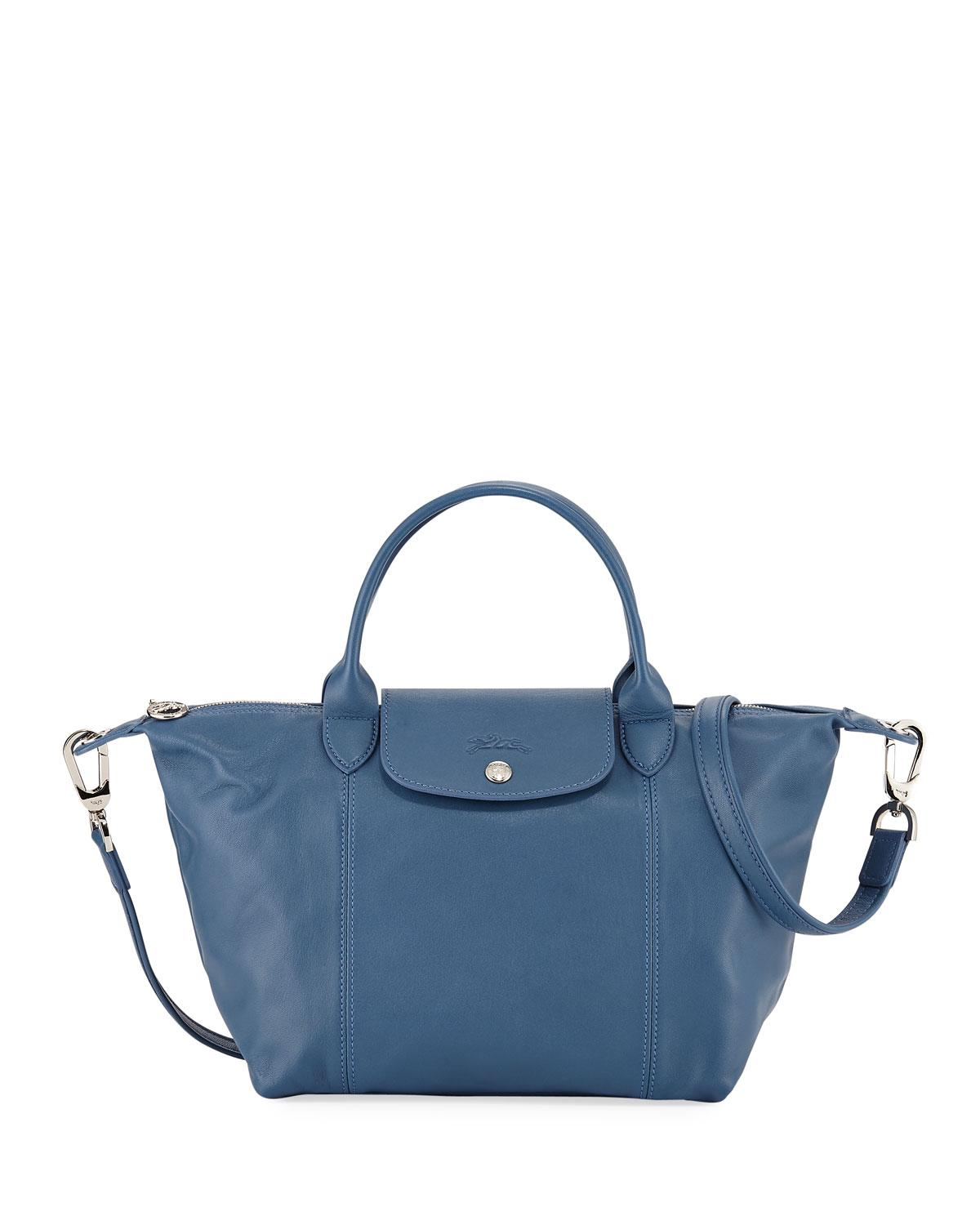 0a191bf311aa Lyst - Longchamp Le Pliage Cuir Small Leather Top-handle Bag With ...