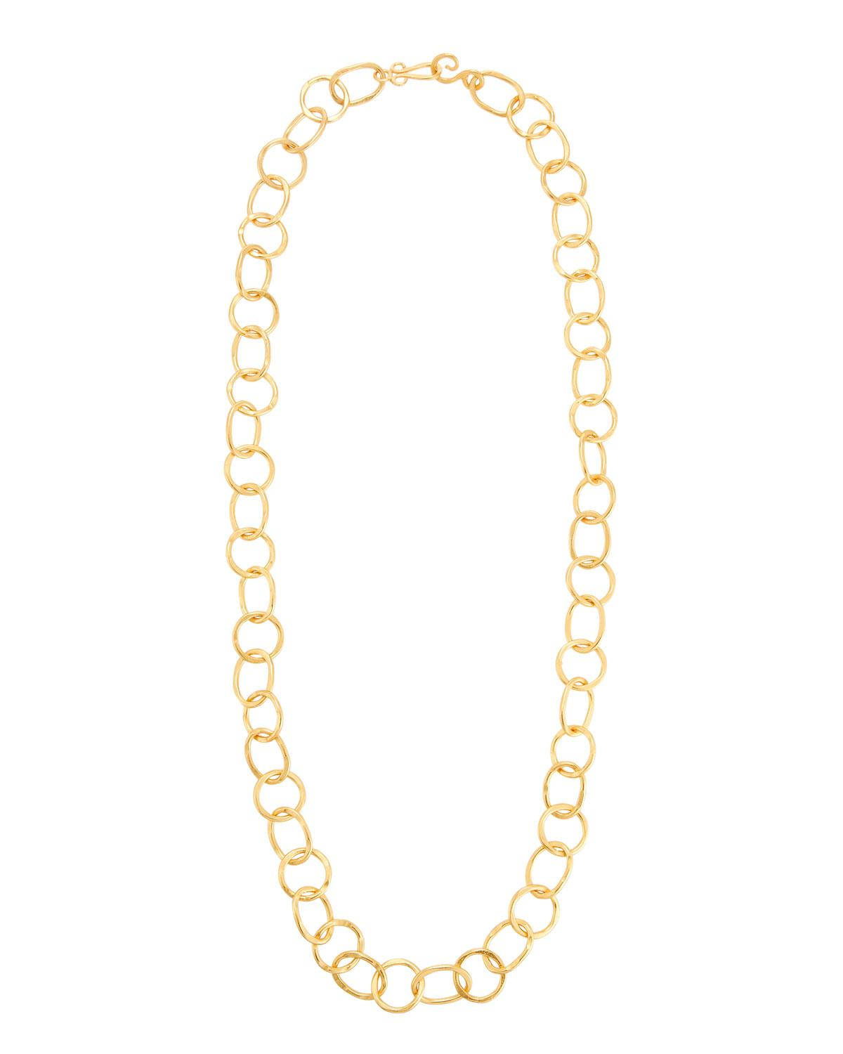 Stephanie Kantis Legend 24k Gold-Plated Extra Long Circle-Link Necklace KiSGE2C