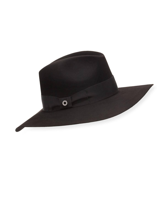 6f47f91766c Loro Piana Black Kim Velvet Felt Floppy Hat
