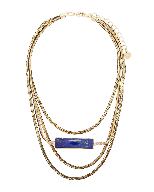 Nakamol Snake Chain Lapis Necklace K7KHdn