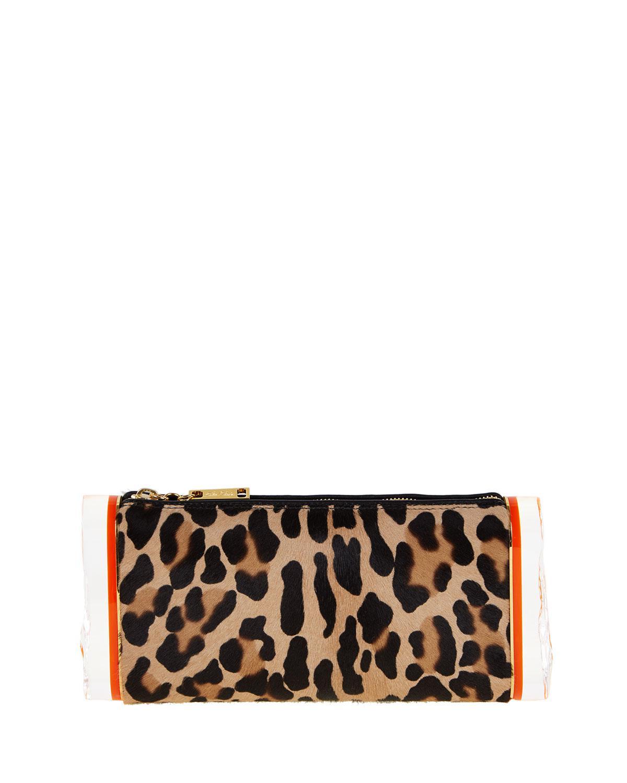 Edie Parker Lara Leopard Calf-Hair Clutch Bag mCfQnJlg