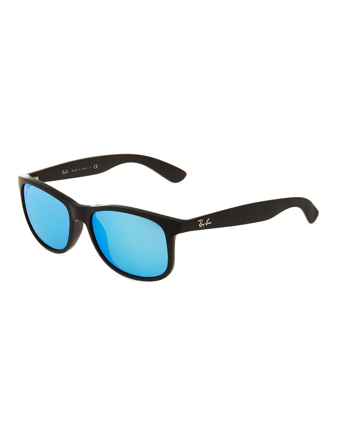 86adb9165055 Lyst - Ray-Ban Andy Youngster Square Plastic Sunglasses in Black