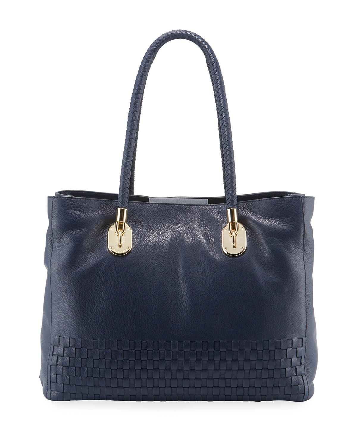 c6509a2c754 Lyst - Cole Haan Benson Large Woven Tote Bag in Blue